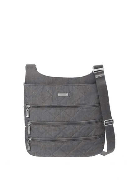 quilted big zipper bagg