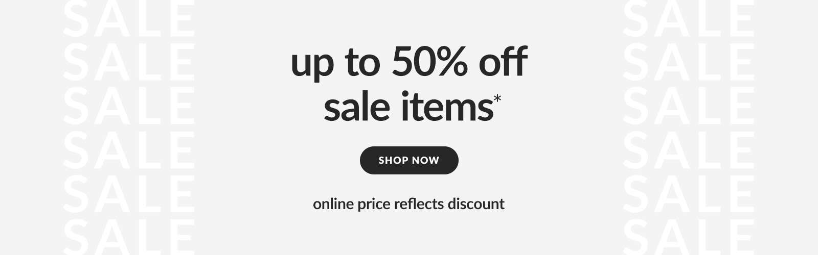 'up to 50% off sale items