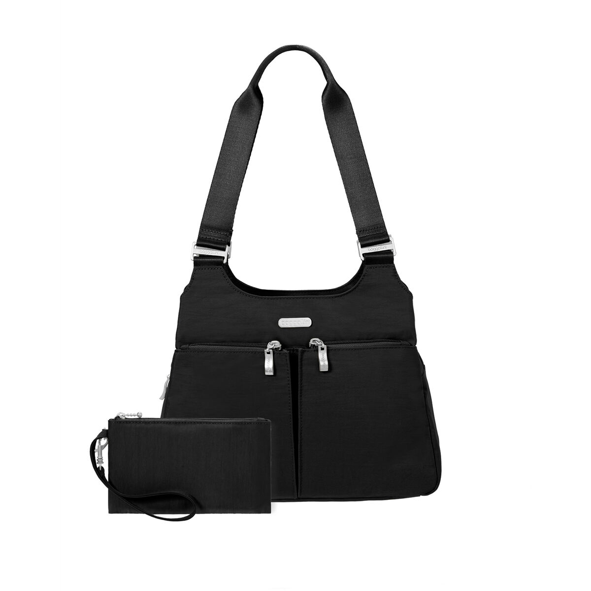 satchel with rfid wristlet