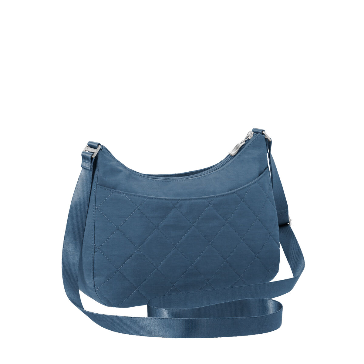 quilted slim crossbody hobo