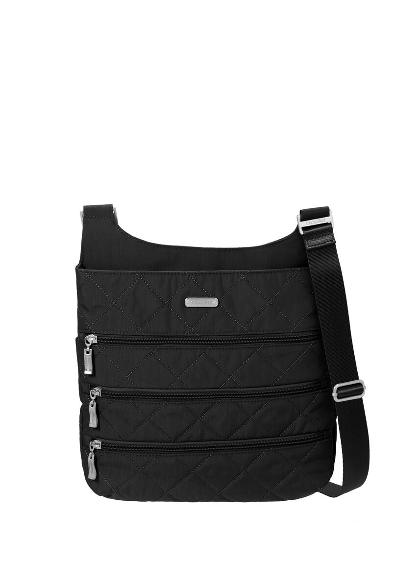 quilted big zipper bagg with rfid wristlet