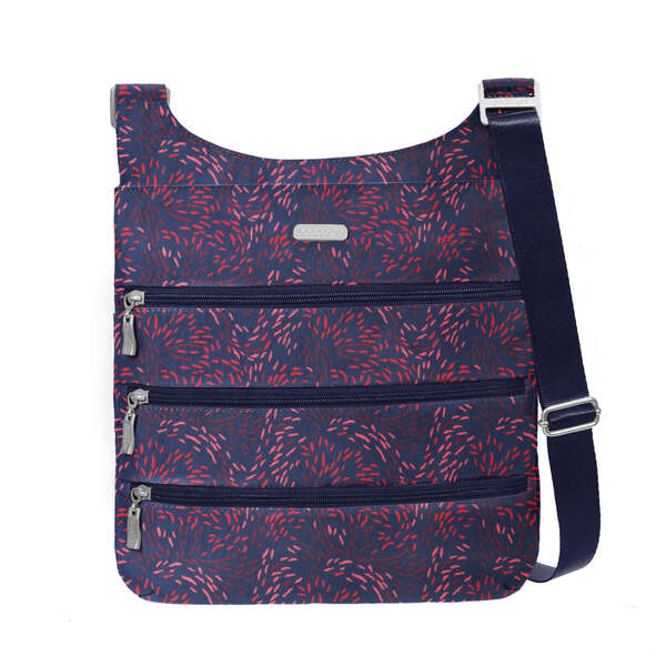 rfid big zipper crossbody bagg