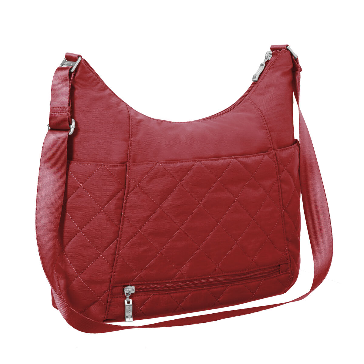 quilted hobo tote bag with rfid wristlet