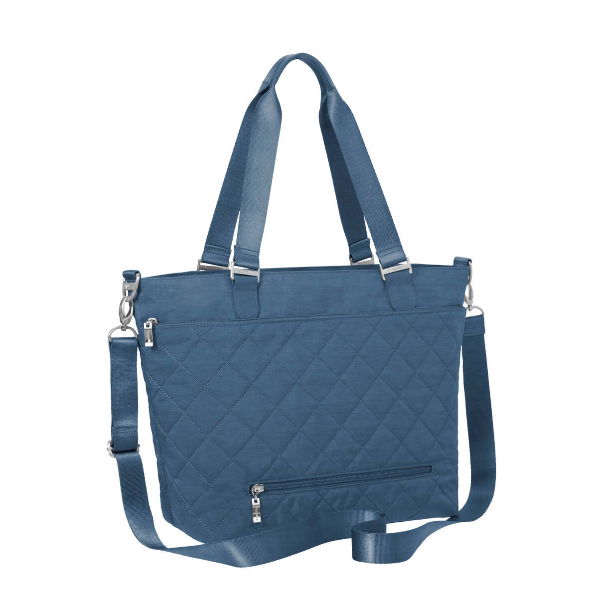 quilted avenue tote bag with rfid wristlet