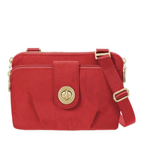 toronto double zip crossbody bag