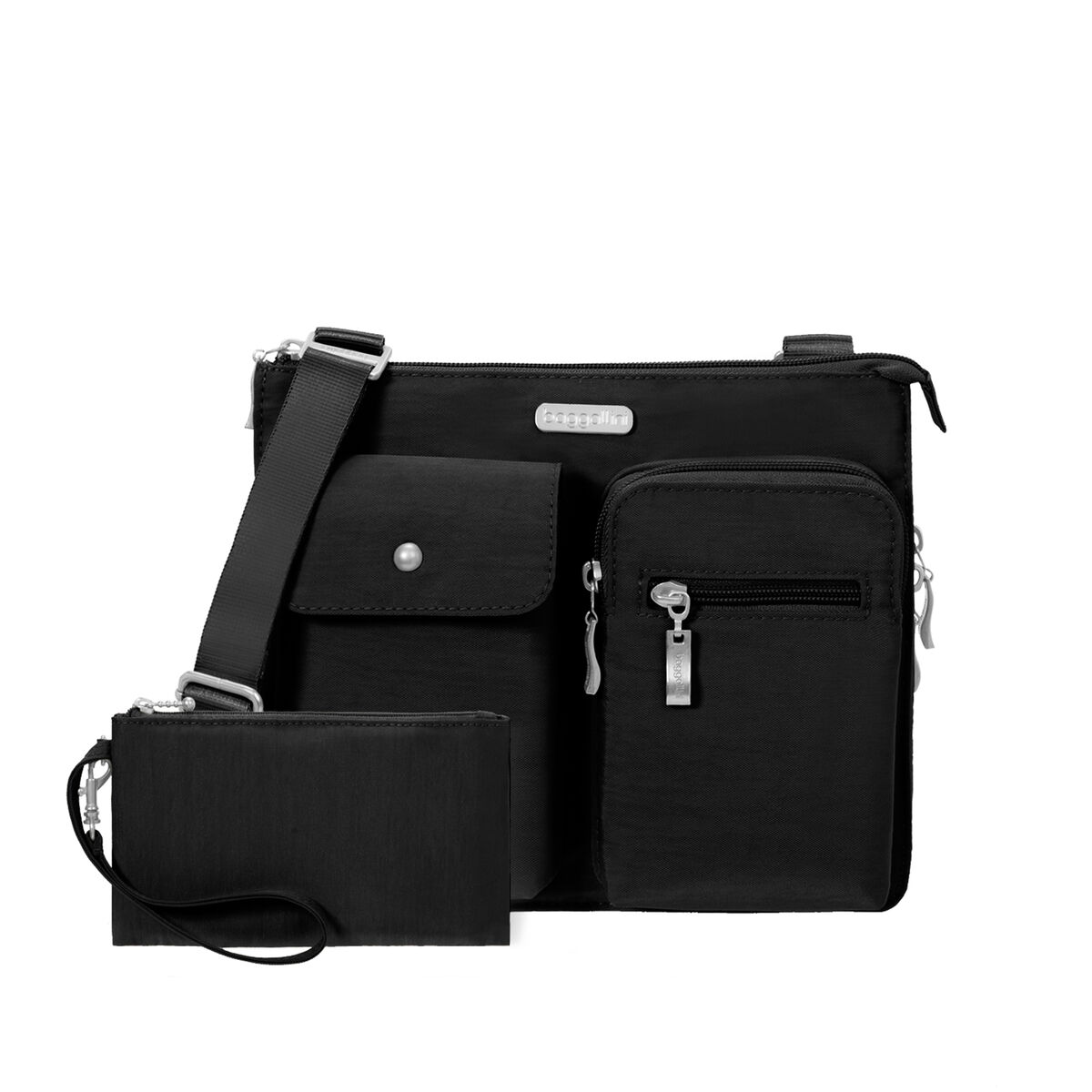 everything bagg with rfid wristlet