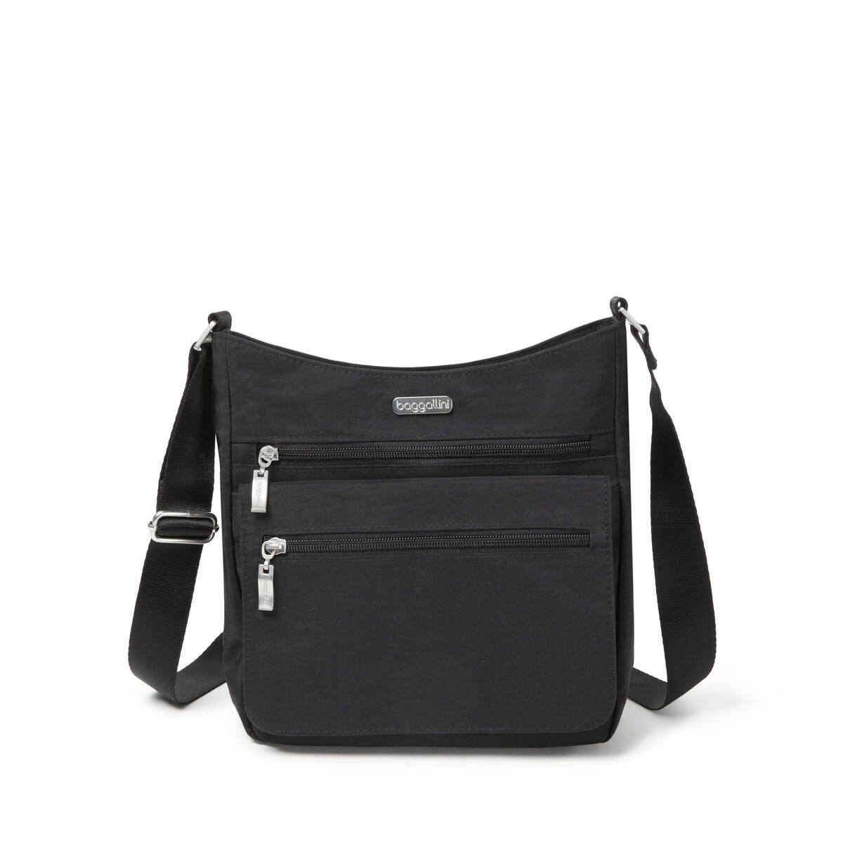 Top Zip Flap Crossbody With Rfid Wristlet