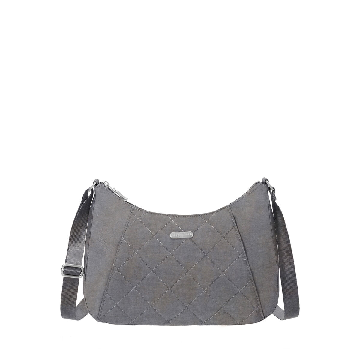 quilted slim crossbody hobo tote bag with rfid wristlet