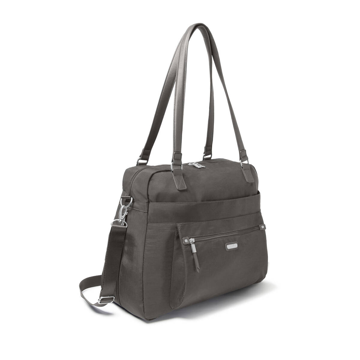 overnight expandable laptop tote with rfid phone wristlet