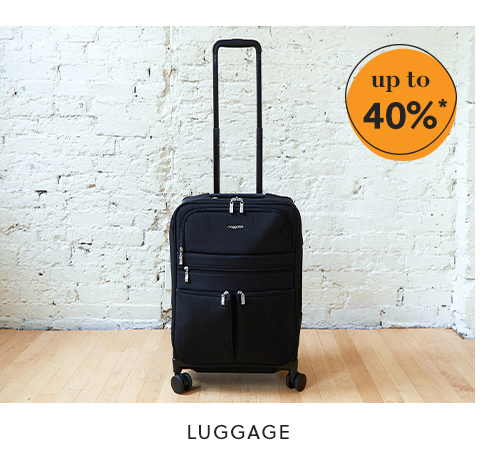 luggage: up to 40%