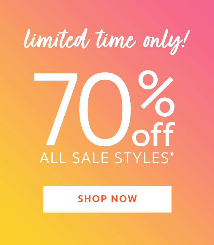 70% off all sale styles