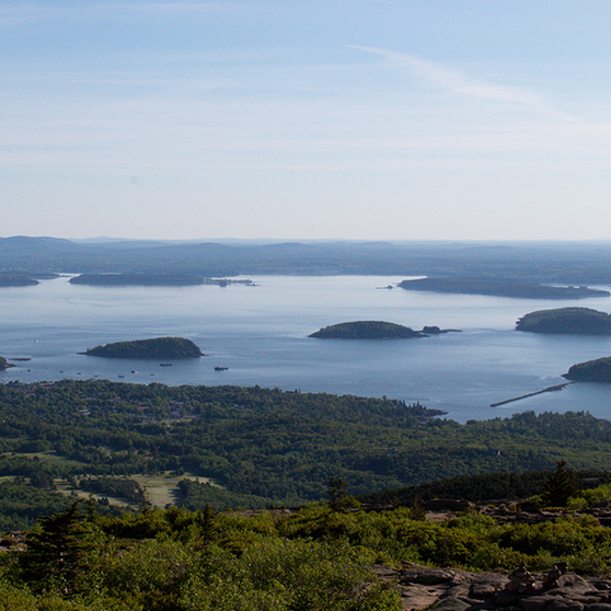 Bar Harbor, Maine, is a favorite tourist destination on the East Coast known for its beautiful coastline.